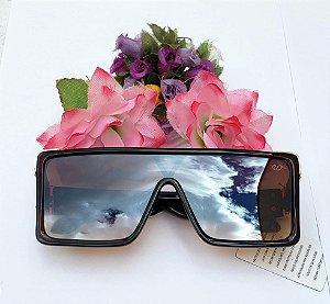 Óculos de Sol Estilo Máscara - Marrom