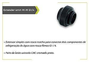 EXTENSOR EK-AF 6MM M-M G1/4 - BLACK