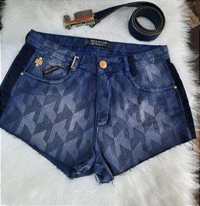 Shorts  lança perfume azul marinho (C/ cinto)