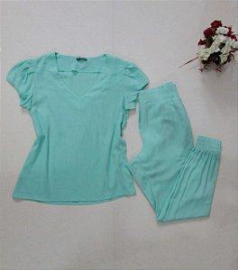 Conjunto Blusa e Calça jogger verde