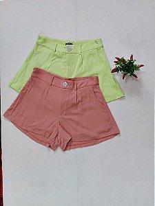 Shorts alfaiataria viscolinho