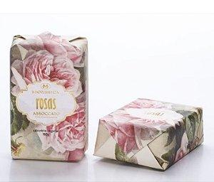 Sabonete em barra vegetal Madressenza rosas 180 g 9 unidades
