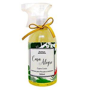 Perfume para roupas Boutique de Aromas casa alegre capim limão 500 ml