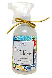 Perfume para roupas Boutique de Aromas casa alegre violeta e lavanda 500 ml