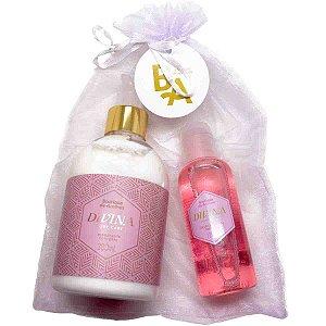 Kit Boutique de Aromas divina hidratante corporal 380 ml e óleo bifásico 120 ml