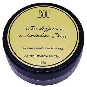 Açúcar esfoliante em óleo Bou Cosméticos flor de jasmim e amêndoas doces 120 g