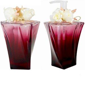 Kit de frascos difusor e sabonete líquido Marsala 200ml