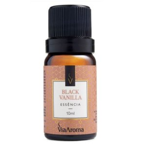 Essência concentrada Via Aroma black vanilla 10 ml