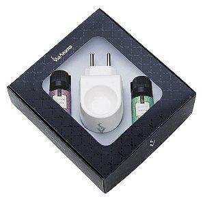 Kit Standart Via Aromas bamboo e lavanda difusor branco