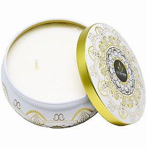 Vela perfumada Luz da Vida citronela mandala dourada 250 g