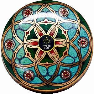 Vela perfumada Luz da Vida cereja e avelã flor cobre 300 g