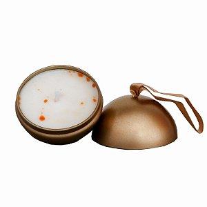 Vela perfumada Luz da Vida Chocolate avelã bola dourada 90 g