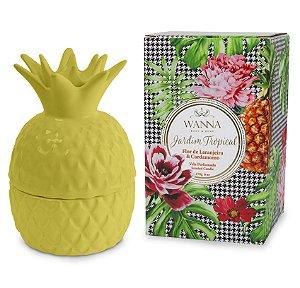 Vela perfumada Wanna flor de laranjeira e cardamomo abacaxi amarelo 170 g