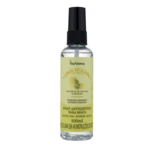 Spray antisséptico para as mãos Via Aroma limão siciliano 100 ml