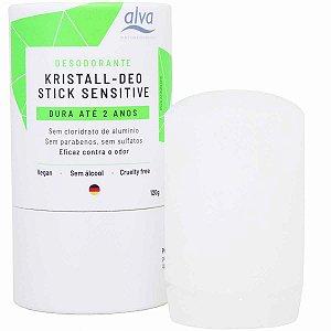 Desodorante Stick Kristall Sensitive Alva 120g Biodegradavel