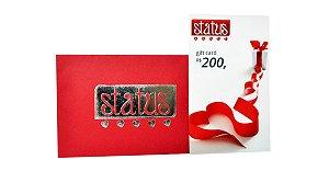 Cartão Presente (Gift Card) no valor de 200,00