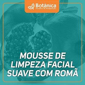 Mousse de limpeza facial suave com romã