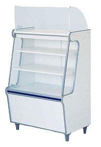 Balcão Caixa Seco Expositor de Produtos com Vidro Frontal - Artlux