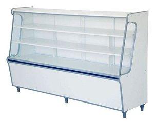 Balcão Seco Expositor de Produtos com Vidro Frontal 180cm - Artlux