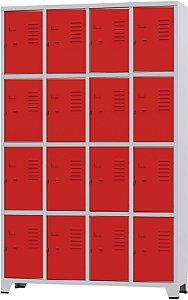 Roupeiro 16 Portas Pequenas Coloridas e Suporte para Cadeado-Amapá