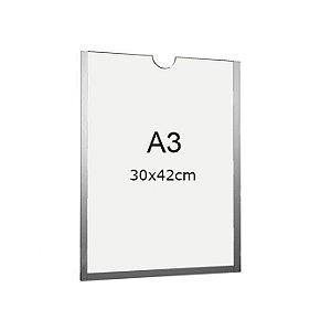 Display A3 de Acrílico para Parede sem fundo (30x42cm)