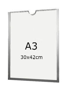 Display A3 de Acrílico para Parede com fundo (30x42cm)