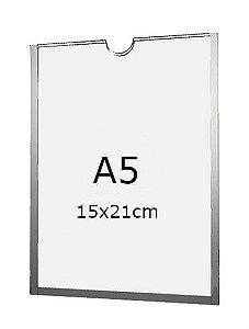 Display A5 de Acrílico para Parede com fundo (15x21cm)