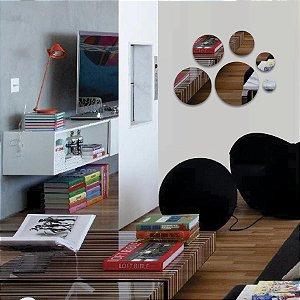Espelho Decorativo Acrílico Círculos - 6 Peças