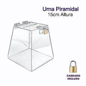 Urna de Acrílico Piramidal 15cm de altura