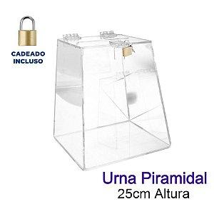 Urna de Acrílico Piramidal 25cm de Altura