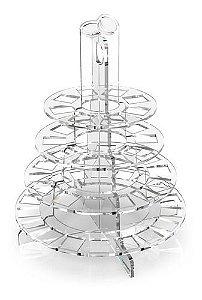 Torre de Macarons com 4 Andares de Acrílico Desmontável
