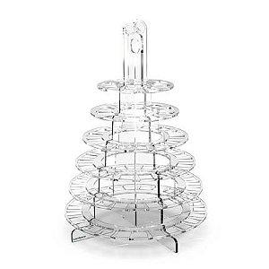 Torre de Macarons com 6 Andares de Acrílico Desmontável