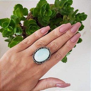 Anel Turim Prata Velho com Pedra - Várias cores