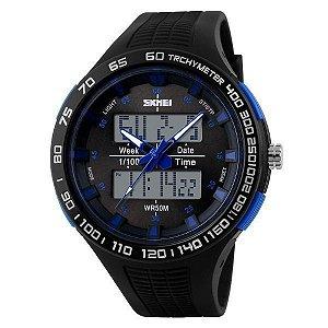 Relógio Masculino Skmei AnaDigi 1066 - Preto e Azul
