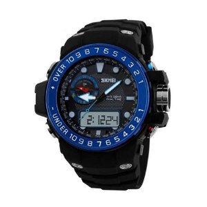 Relógio Masculino Skmei AnaDigi 1063 - Preto e Azul