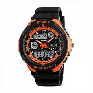 Relógio Masculino Skmei AnaDigi 0931 - Preto e Laranja