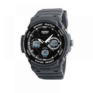 Relógio Masculino Skmei Anadigi 1247 Cinza