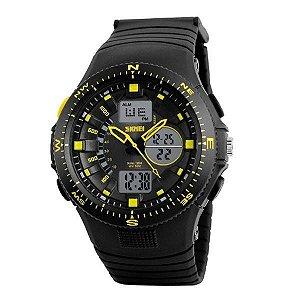 Relógio Masculino Skmei AnaDigi 1198 - Preto e Amarelo