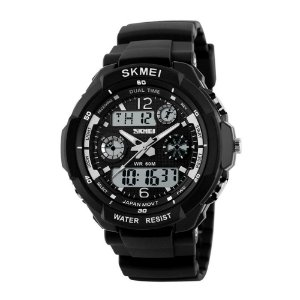 Relógio Masculino Skmei AnaDigi 1060 - Preto e Branco