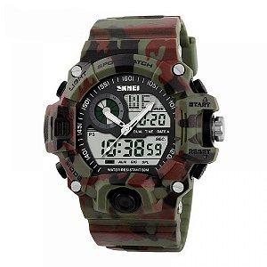 Relógio Masculino Skmei Anadigi 1053 Camuflado