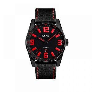 Relógio Masculino Skmei Analógico 9137 - Preto e Vermelho