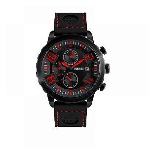 Relógio Masculino Skmei Analógico 9153 - Preto e Vermelho