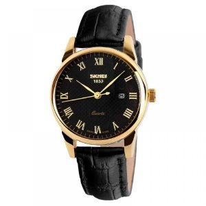 Relógio Masculino Skmei Analógico 9058 - Preto e Dourado