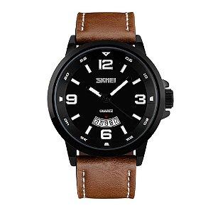 Relógio Masculino Skmei Analógico 9115 - Marrom e Preto
