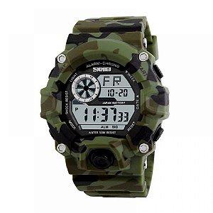 Relógio Masculino Skmei Digital 1019 - Verde e Camuflado