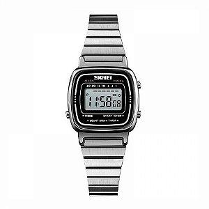 Relógio Feminino Skmei Digital 1252 - Prata