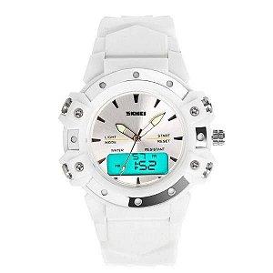 Relógio Feminino Skmei AnaDigi 0821 - Branco