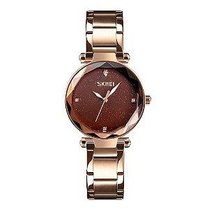 Relógio Feminino Skmei Analógico 9180 - Rosê
