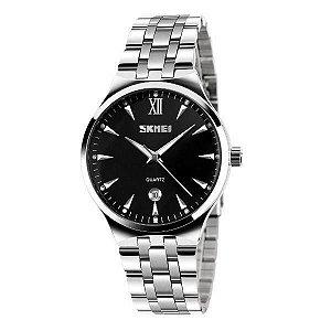 Relógio Feminino Skmei Analógico 9071 - Prata e Preto