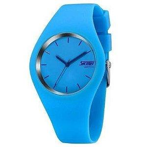 Relógio Feminino Skmei Analógico 9068 - Azul Claro